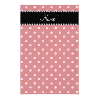 Personalized name Red pink diamonds Customised Stationery