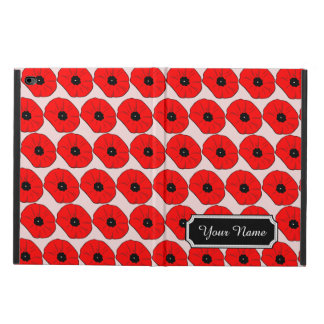 Personalized Name Red Poppy Flowers iPad Air 2 Cas Powis iPad Air 2 Case