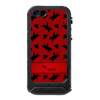 Personalized name red rodeo bull riding pattern incipio ATLAS ID™ iPhone 5 case