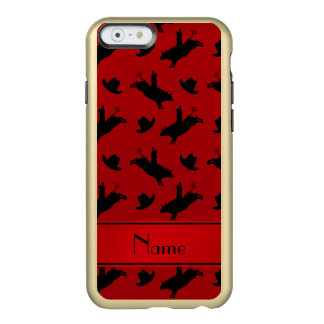 Personalized name red rodeo bull riding pattern incipio feather® shine iPhone 6 case