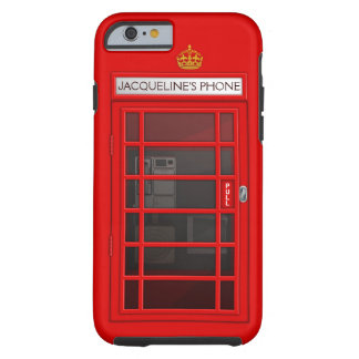 Personalized Name Red Telephone Box iPhone 6 case