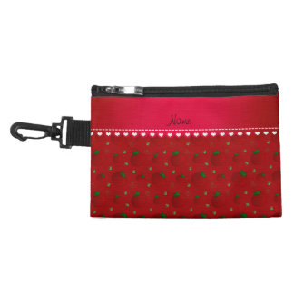 Personalized name red tomatoes accessories bag