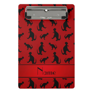 Personalized name red trex dinosaurs mini clipboard