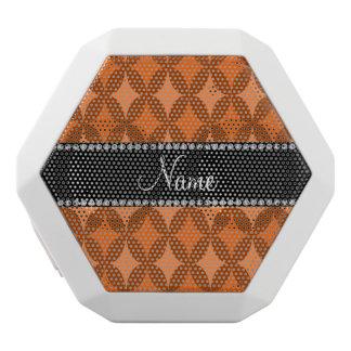 Personalized name retro orange circle diamond