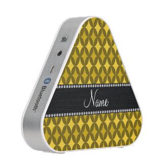 Personalized name retro yellow circle diamond speaker