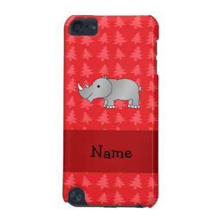 Personalized name rhino red christmas trees iPod touch (5th generation) covers