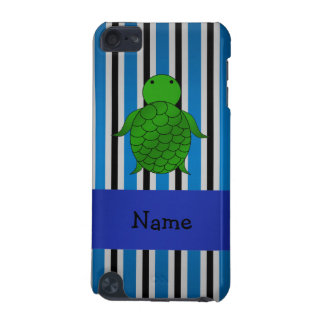 Personalized name sea turtle blue stripes iPod touch 5G case