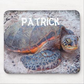Personalized name sea turtle photo mousepad
