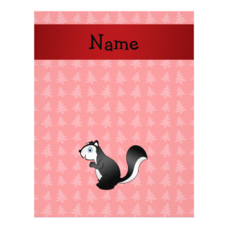 Personalized name skunk red christmas trees personalized flyer
