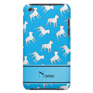 Personalized name sky blue bull terrier dogs barely there iPod cases