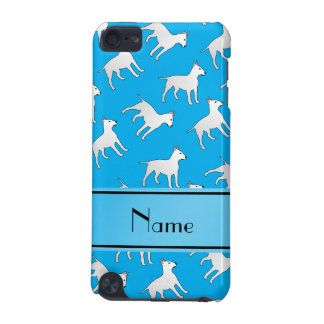 Personalized name sky blue bull terrier dogs iPod touch (5th generation) cover