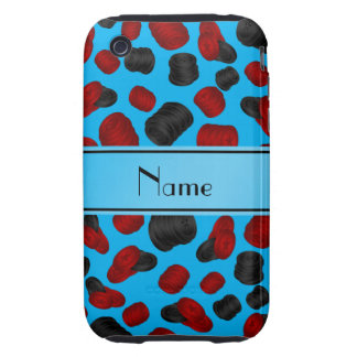 Personalized name sky blue checkers game iPhone 3 tough case