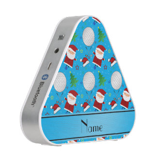 Personalized name sky blue christmas golfing speaker