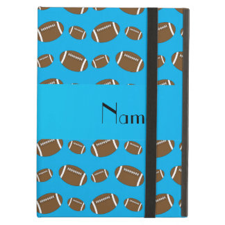 Personalized name sky blue footballs cover for iPad air