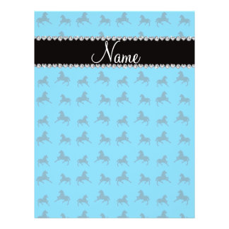 Personalized name sky blue horse pattern personalized flyer