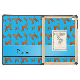 Personalized name sky blue irish terrier dogs cover for iPad air