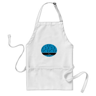 Personalized name sky blue mascara hearts bows standard apron
