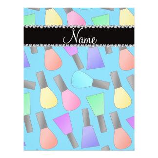 "Personalized name sky blue rainbow nail polish 8.5"" x 11"" flyer"