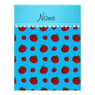 Personalized name sky blue red tomatoes 21.5 cm x 28 cm flyer