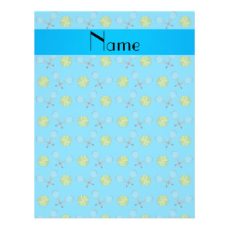 Personalized name sky blue tennis balls full color flyer