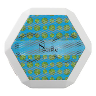 Personalized name sky blue tennis balls pattern