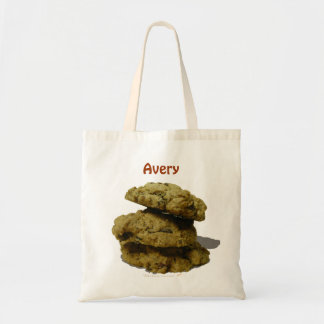 Personalized Name Stack of Cookies Cookie Lovers Canvas Bag