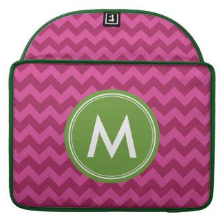 Personalized Name Stylish Purple Chevron Monogram Sleeves For MacBook Pro