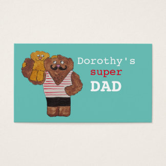 Personalized Name Super Dad Circus Strongman Daddy