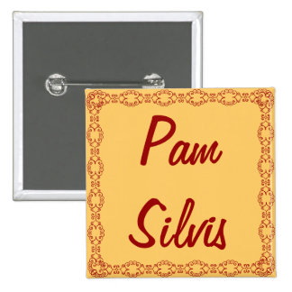 Personalized Name Tag/Button/Pin 15 Cm Square Badge