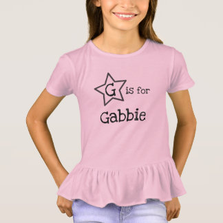 personalized name tee for girl