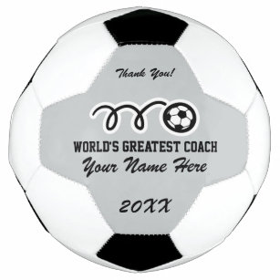 f1ee89b90 Personalized name thank you coach soccer ball