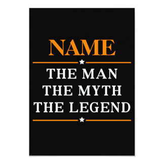 Personalized Name The Man The Myth The Legend Card