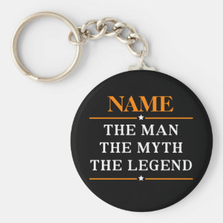Personalized Name The Man The Myth The Legend Key Ring