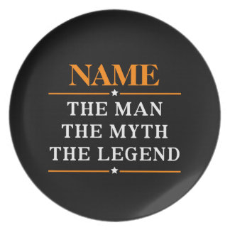 Personalized Name The Man The Myth The Legend Party Plates