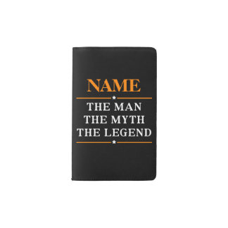 Personalized Name The Man The Myth The Legend Pocket Moleskine Notebook