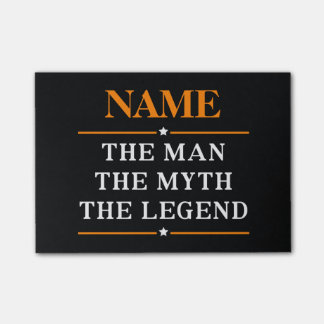 Personalized Name The Man The Myth The Legend Post-it Notes