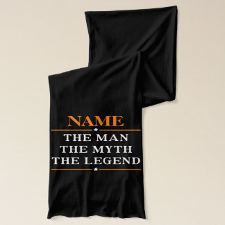 Personalized Name The Man The Myth The Legend Scarf