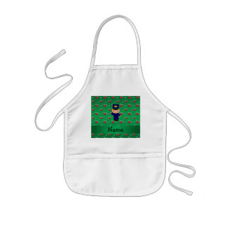 Personalized name train conductor green candy cane aprons