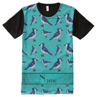 Personalized name turquoise bluejays All-Over print T-Shirt