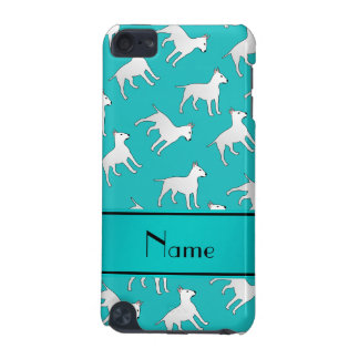 Personalized name turquoise bull terrier dogs iPod touch (5th generation) cover