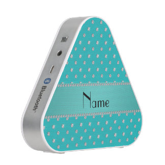 Personalized name turquoise diamonds