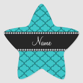 Personalized name Turquoise moroccan Stickers