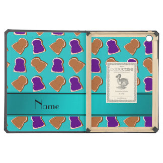 Personalized name turquoise peanut butter jelly cover for iPad air