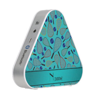 Personalized name turquoise racquetball pattern