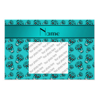 Personalized name turquoise sugar skulls photograph