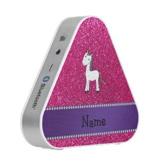 Personalized name unicorn pink glitter