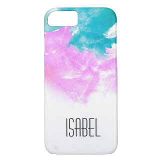 Personalized name, watercolor splash iPhone 8/7 case
