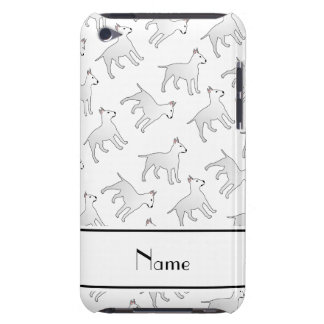 Personalized name white bull terrier dogs Case-Mate iPod touch case