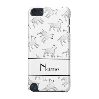 Personalized name white bull terrier dogs iPod touch 5G cases
