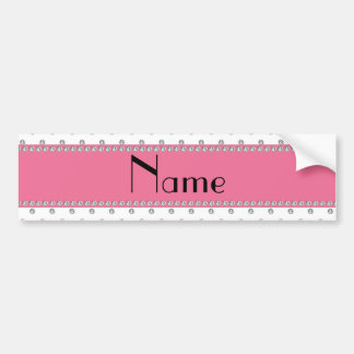 Personalized name white diamonds bumper sticker
